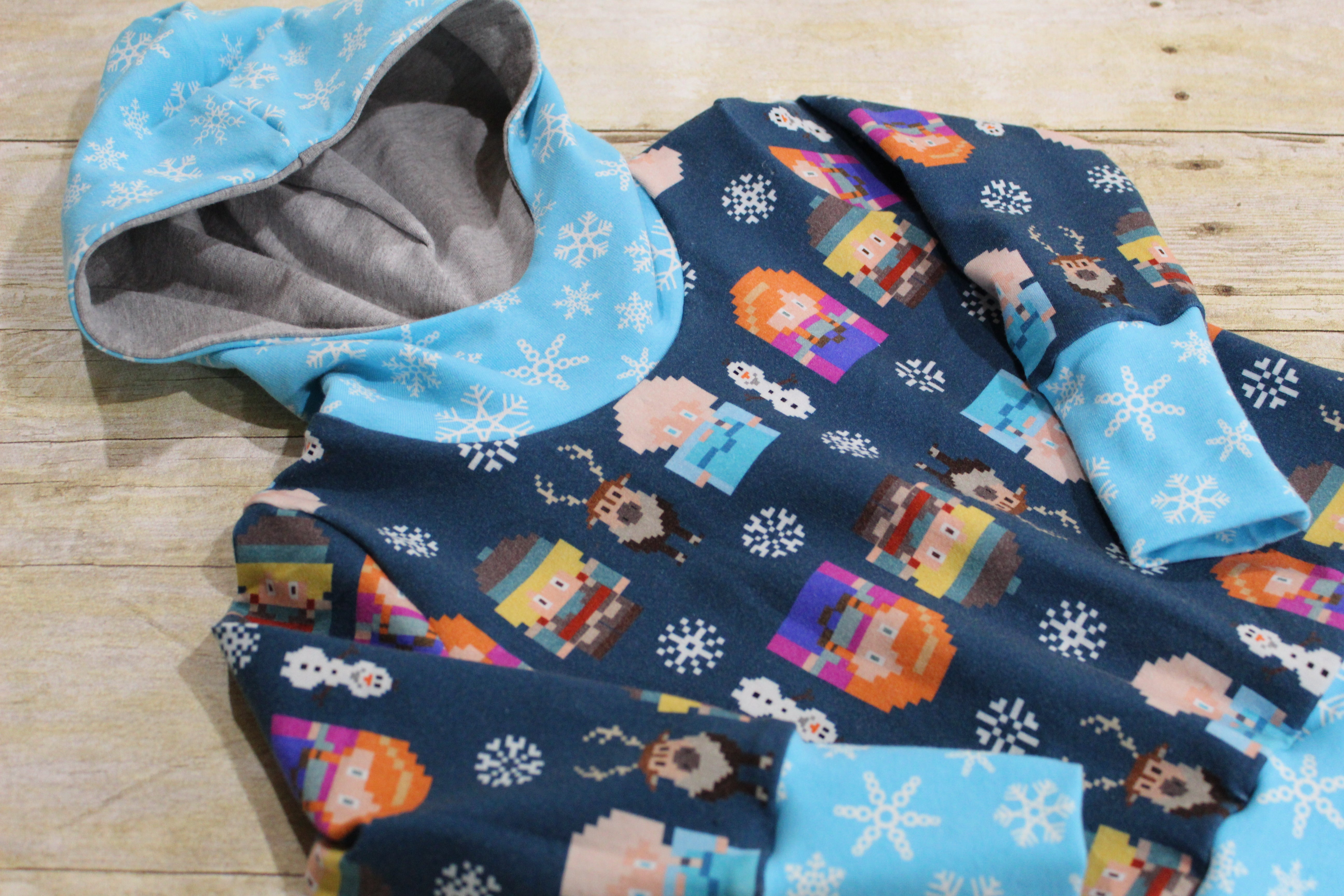 Winter Sweater Grow with Me Hoodie Size S {9 months - 2T}