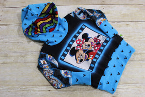 Say Cheese Mice! Grow with Me Hoodie Size S {9 months - 2T}