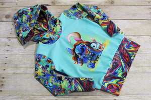 Costume Stitchery Ocean Princess Grow with Me Hoodie Size M {3T - 6 youth}