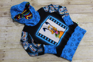 Say Cheese Pup! Grow with Me Hoodie Size M {3T - 6 youth}