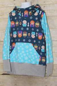 Winter Sweater Grow with Me Hoodie Size L {7-12 youth}