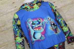 Costume Stitchery Monsters Grow with Me Hoodie Size S {9 months - 2T}