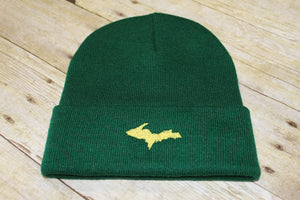 U.P. (Upper Peninsula) Embroidered Knit Beanie - Hat Adult OS