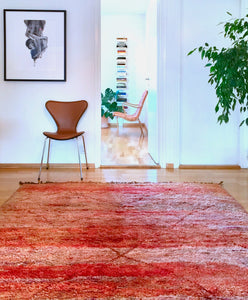 Moroccan vintage berber rug from Mrirt sold by Eco from the past - Shady Diamond