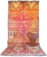 Load image into Gallery viewer, Moroccan vintage berber rug from Beni Mguild sold by Eco from the past - Mountain Soil