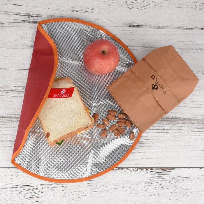 Washable paper reusable food wrap for sandwich & snack bags
