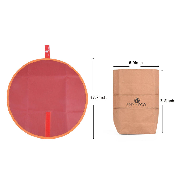 Washable paper reusable food wrap for sandwich & snack bags-Simply Eco Store