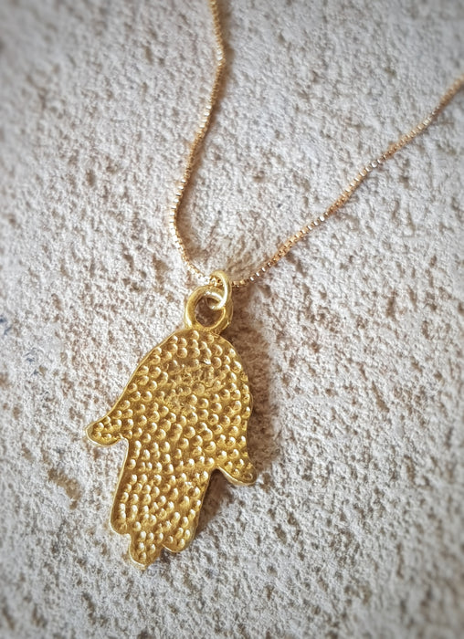 Hamsa Hand Chain - Gold Plated