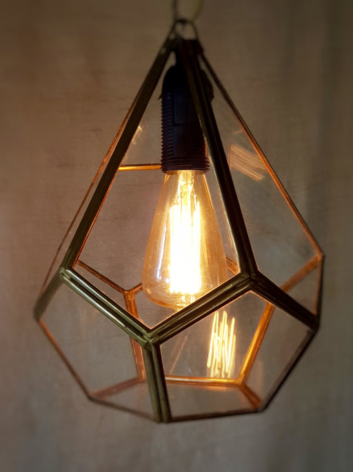 Brass & Glass Prism Light