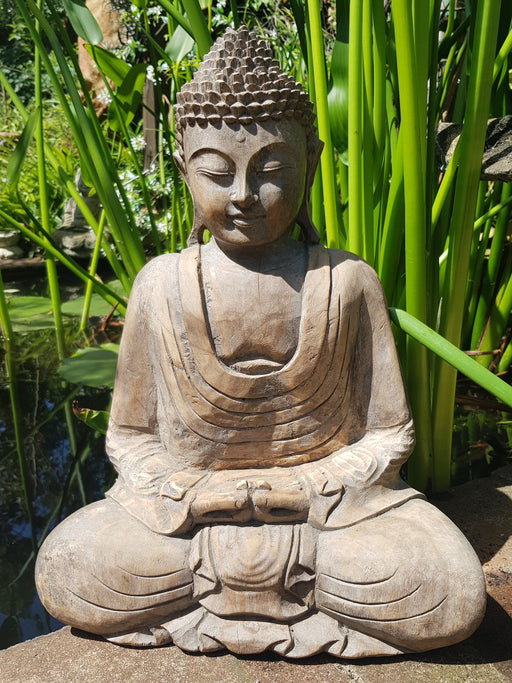 Meditating Buddha - Hand Carved Jackfruit Wood