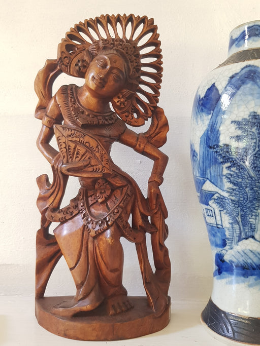 Balinese Temple Dancer - Hand Carved Hibiscus Wood