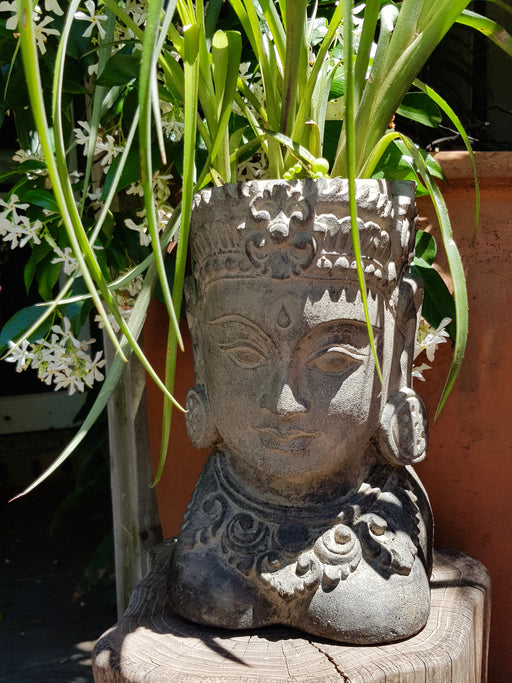 Flower Pot Goddess Head