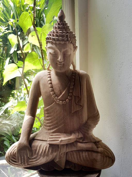 Thai Buddha - Hand Carved Jackfruit Wood