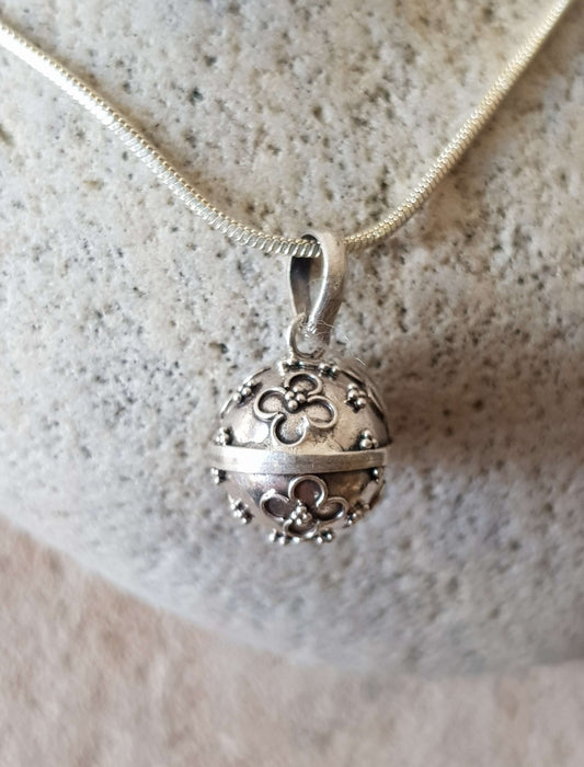 Silver Plated Harmony Bell on Fine Chain