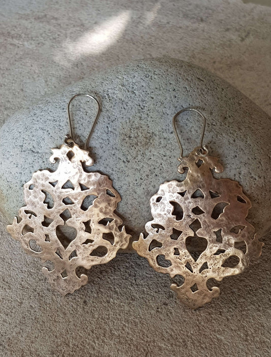 Bronze Cut Out Chandelier Earrings