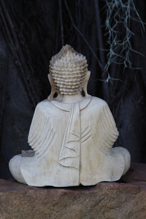 Peaceful Buddha - Hand Carved Jackfruit Wood