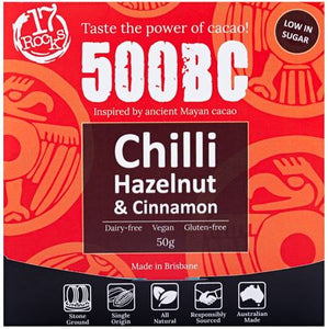 17 Rocks 500BC Dark Chocolate with Hazelnut & Chilli