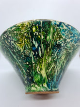 Load image into Gallery viewer, KYS Dark green rainforest tall bowl