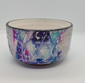 KYS Purple/Blue/Silver rounded bowl