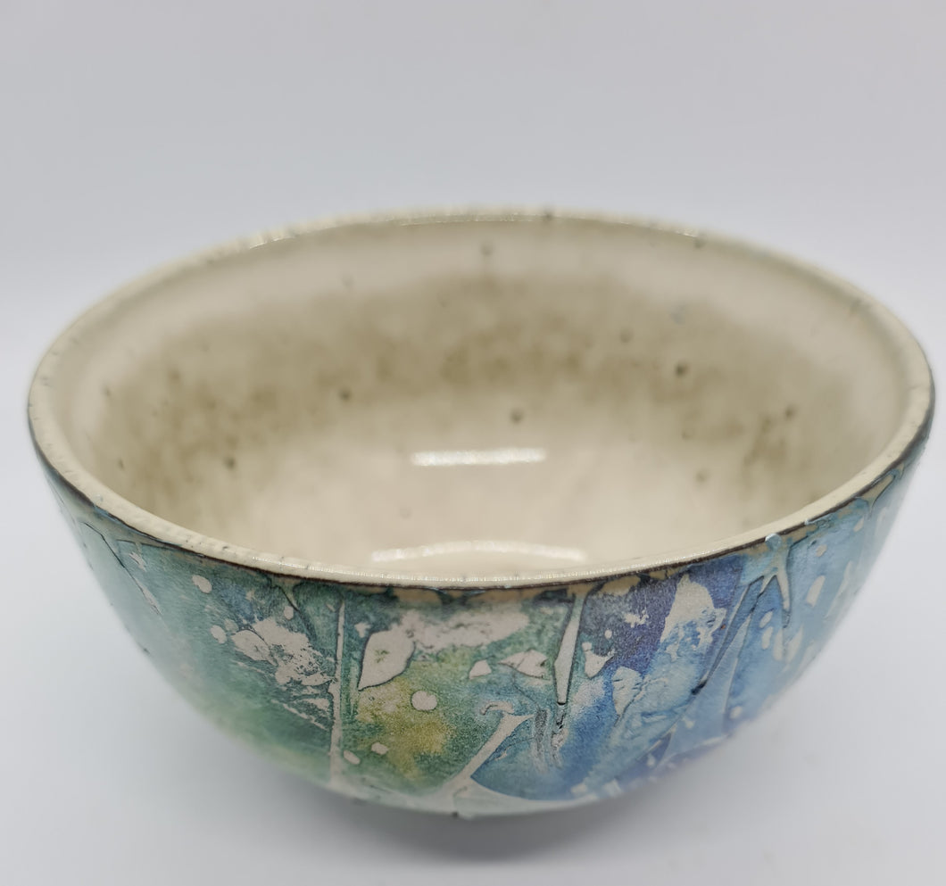 KYS Blue/green/mottled rounded bowl