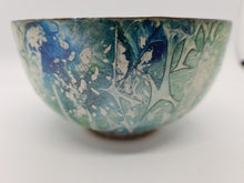Load image into Gallery viewer, KYS Blue/green/mottled rounded bowl