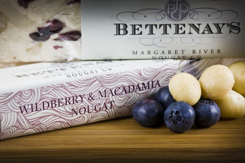 Bettenays Margaret River Wildberry & Macadamia Nougat