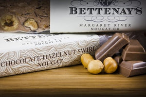 Bettenays Margaret River Chocolate Hazelnut Swirl Nougat