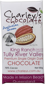 Charley's Chocolate Factory King Ranch, Tully Dark Chocolate