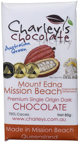 Charley's Chocolate Factory Mount Edna, Mission Beach Dark Chocolate