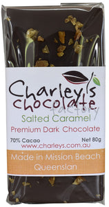 Charley's Chocolate Factory Salted Caramel Dark Chocolate