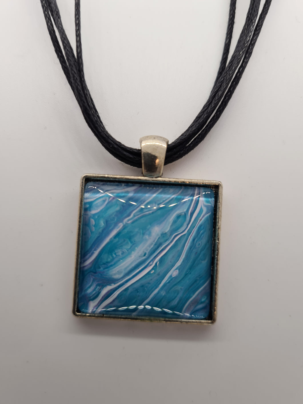 KYS Square Aqua Necklace