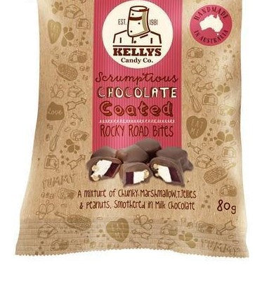 Kellys Candy Co. Chocolate Coated Rocky Road