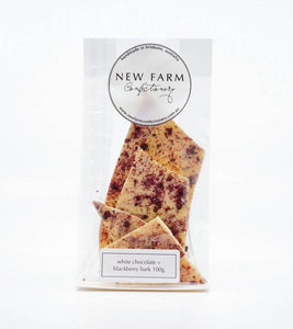 New Farm Confectionery Bark Blackberry White Chocolate
