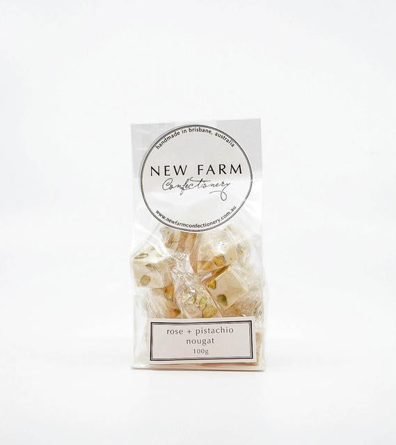 New Farm Confectionery Nougat Rose and Pistachio