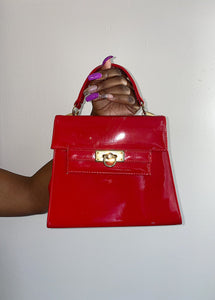Red Patent Handbag