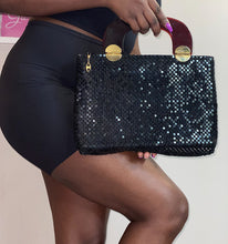 Load image into Gallery viewer, Sparkly Black Handbag