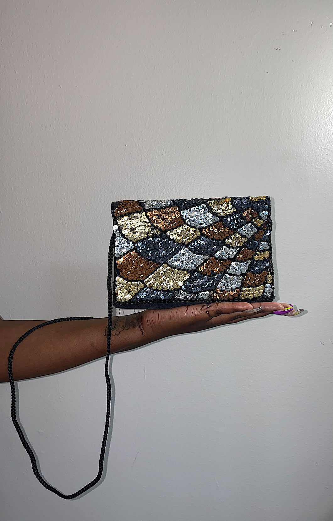 Silver and Gold Crossbody