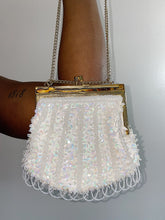 Load image into Gallery viewer, Ivory & Gold Beaded Crossbody