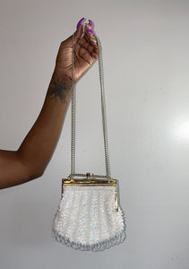 Ivory & Gold Beaded Crossbody