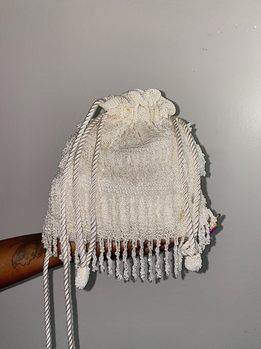 Beaded Slouchy Bucket Bag
