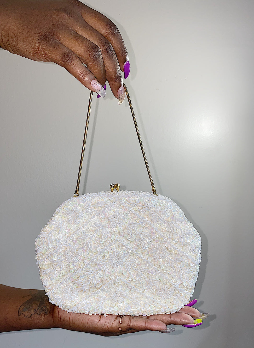 Sequin and Beaded Evening Bag