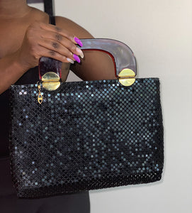 Sparkly Black Handbag
