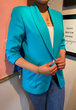 Load image into Gallery viewer, Pop of Teal Blazer