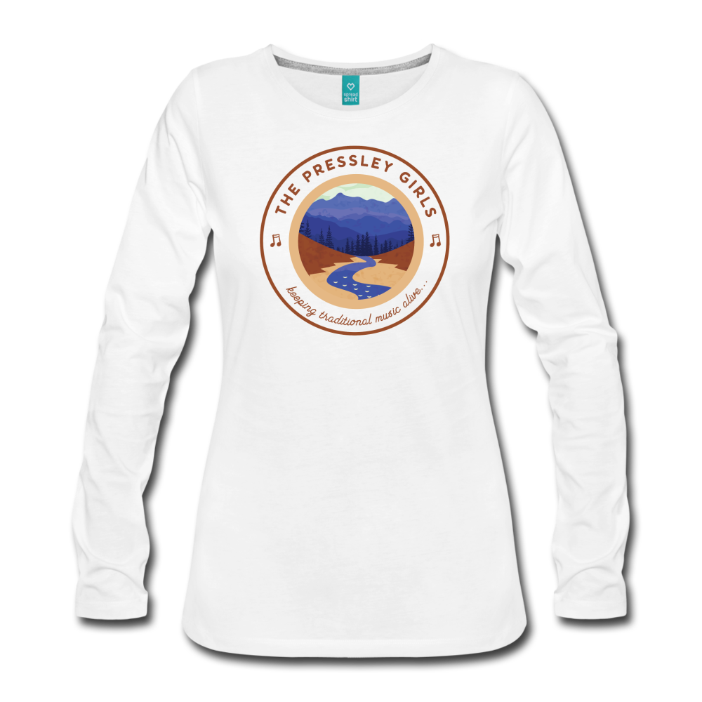 Women's The Pressley Girls Long Sleeve T-Shirt - white