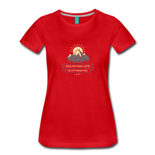 Load image into Gallery viewer, Women's Mountain Life Clothing Co T-Shirt - red