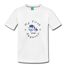 Load image into Gallery viewer, Toddler My First Pegasus T-Shirt (white/blue) - white