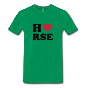 Men's Horse Large Letters T-Shirt - kelly green