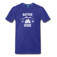 Load image into Gallery viewer, Men's Nature T-Shirt (white) - royal blue