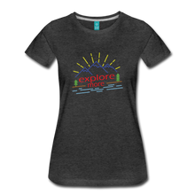 Load image into Gallery viewer, Women's Colored Explore More T-Shirt - charcoal gray