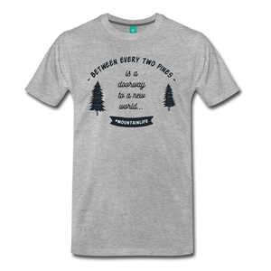 Men's Between Every Two Pines T-Shirt - heather gray